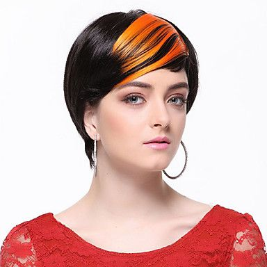 High Quality Synthetic Orange Straight Hair Bangs – WigSuperDeal.com