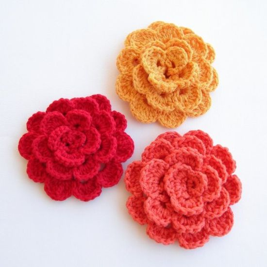 crocheted blooms