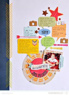 So Much Awesomeness *Spencer's Main Scrapbook Kit* by Sasha at Studio Calico