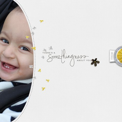1 big photo + scatters #simple #edge #scrapbook #layout