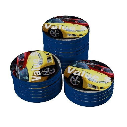 Opel GT Classic Sports Cars Poker Chips Set