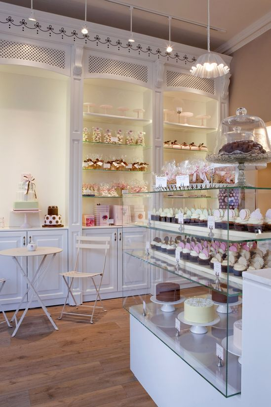 This is EXACTLY what I would like my bakery to look like.  I LOVE this!!