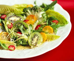 Homemade Honey Mustard Dressing - A sweet-and-tangy dressing tops salad greens in this simple side-dish salad. If you like, add fruit to the mix.