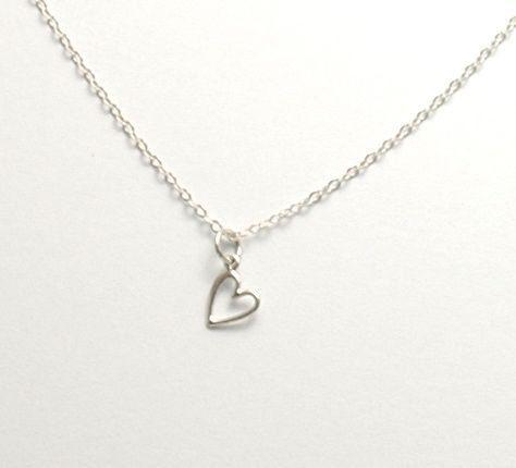 Sterling Silver Heart Necklace by JimDavisDesigns, $30.00