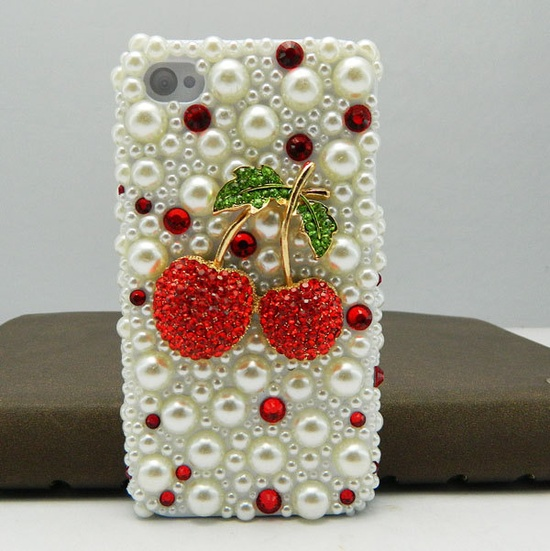 cherries & pearls iPhone case