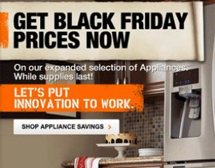 Early Home Depot Black Friday Appliances Sale is Now Online