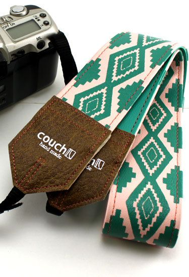 Fabulous handmade camera strap via Couch on Etsy.