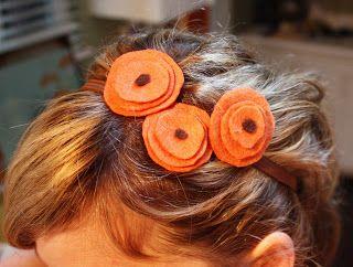 Olivia Renn: Felt Flower Hair Accessories