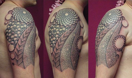 dotwork tattoo pattern by punktum tattoo, via Flickr