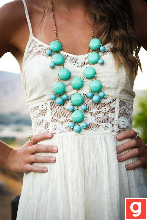 ? • #necklace • #necklaces • #girls • #jewelery •. #summer • #spring • #style • #fashion • #trend • #ootd • #accessories • #torquoise • #dress • #lace