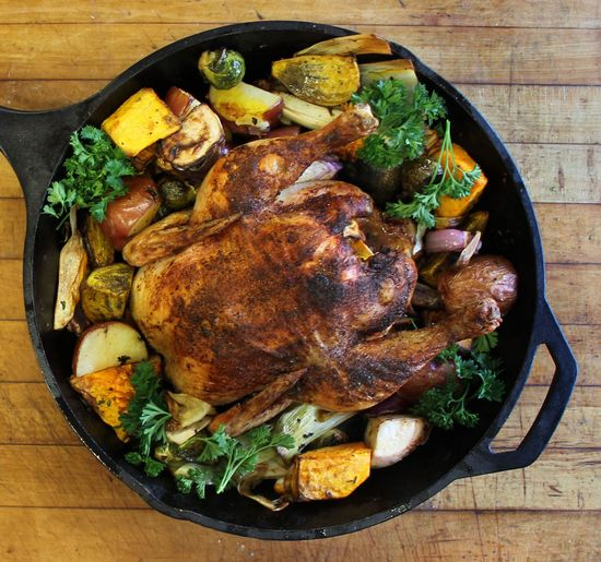 Roasted Chicken with Seasonal Veggies. Perfect for Fall! #Cooking #Recipe #Healthy