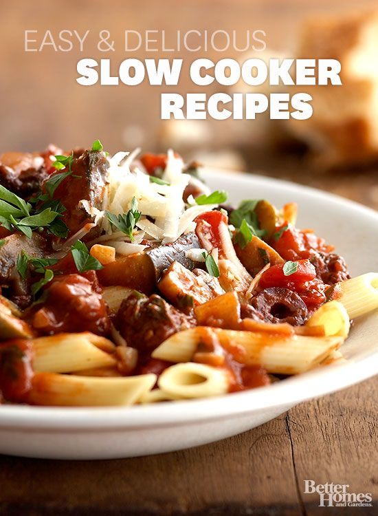 Have your slow-cooker do the cooking with hundreds of our favorite slow-cooker recipes: www.bhg.com/...