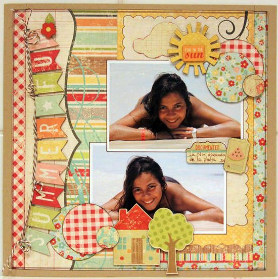 fun in the sun scrapbook layout