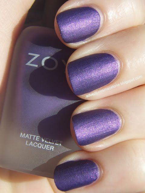 Purple matt nails  nail art www.finditforwedd...