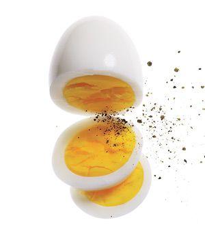 Snack idea: 1 hard-boiled egg with black pepper, #snacks