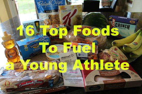 My 16 TOP Foods to Fuel a Young Athlete. Includes a grocery list!