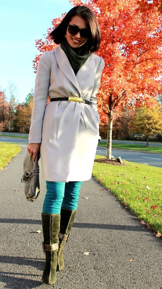 style a coat with a belt
