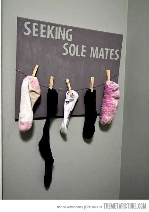 For the laundry room-- clever and adorable!