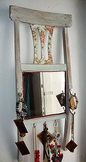 Espelho na cadeira... #oportunidadesdacasa.blogspot.com