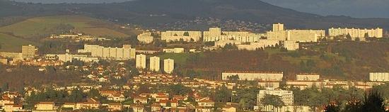 Le paysage urbain à Saint-Etienne