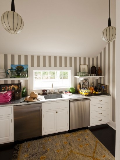 Kate and Andy Spade's Southampton kitchen decorated by Steven Sclaroff...