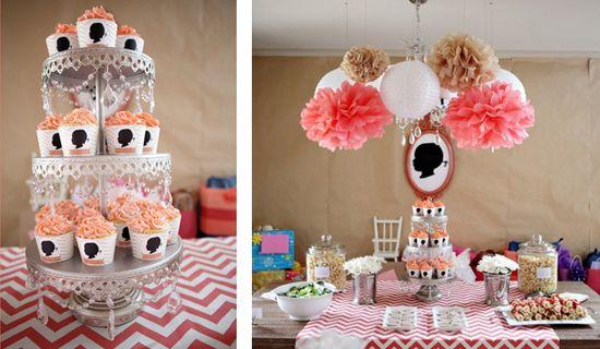 Silhouette & Chevron 2nd Birthday Party via Kara's Party Ideas