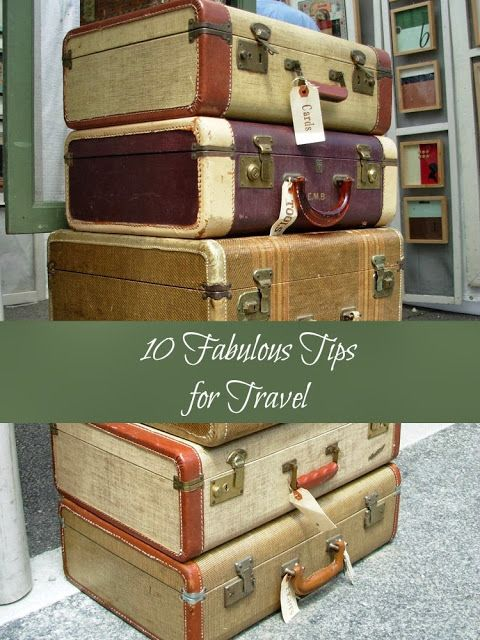 Clutterbugs: 10 Fabulous Travel Tips #AdriansCrazyLife #HowTo #Travel #Organizing