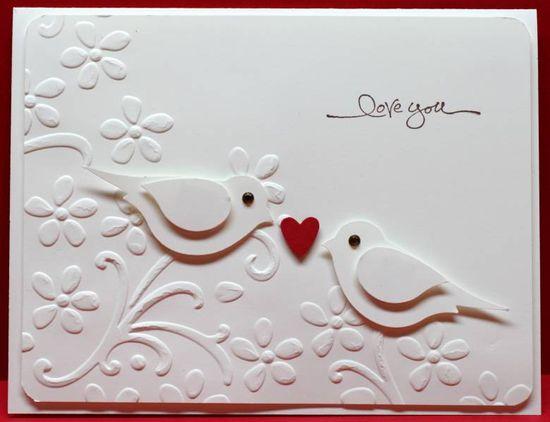 Cute card using the SU bird punch