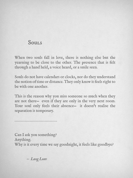 every time we say goodnight…it feels like goodbye