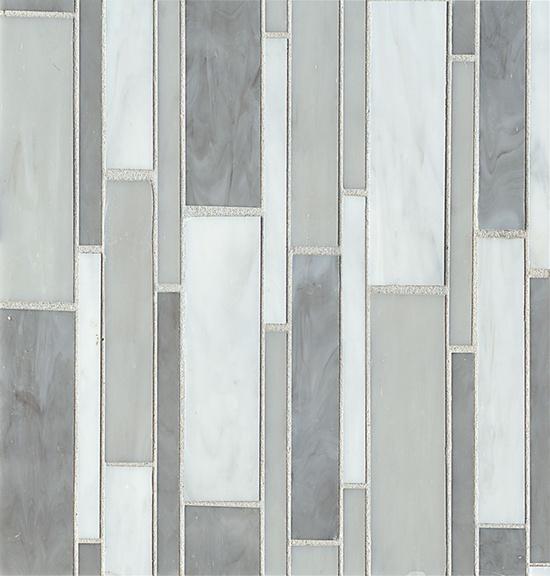 Retrospect- Silver Mist, glass tile by Bedrosians