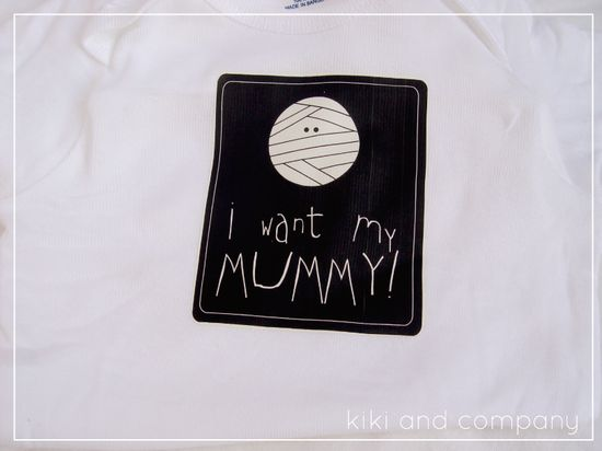 i want my mummy halloween onesies from kiki and company. Printable to make lots of different shirts. #halloween