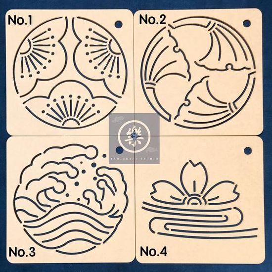 ˉ Taille: 6.69 «6,69» × 0.08» (17cm × 17cm × 0. 2cm)  ˉ Écart width:0.09(2.2mm) (vous pouvez utiliser le marqueur effaçable)  ˉ Matière: acrylique Transparent  ˉ Utiliser ce gabarit pour le Quilting et broderie SASHIKO japonais.  Il y a une couche de pellicule de papier Kraft. Avant
