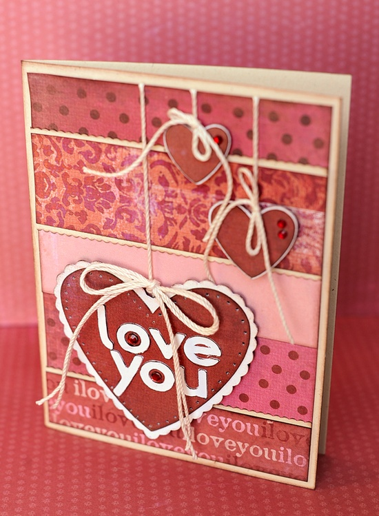 Love You card--perfect for Valentine's Day -  made with the #Cricut