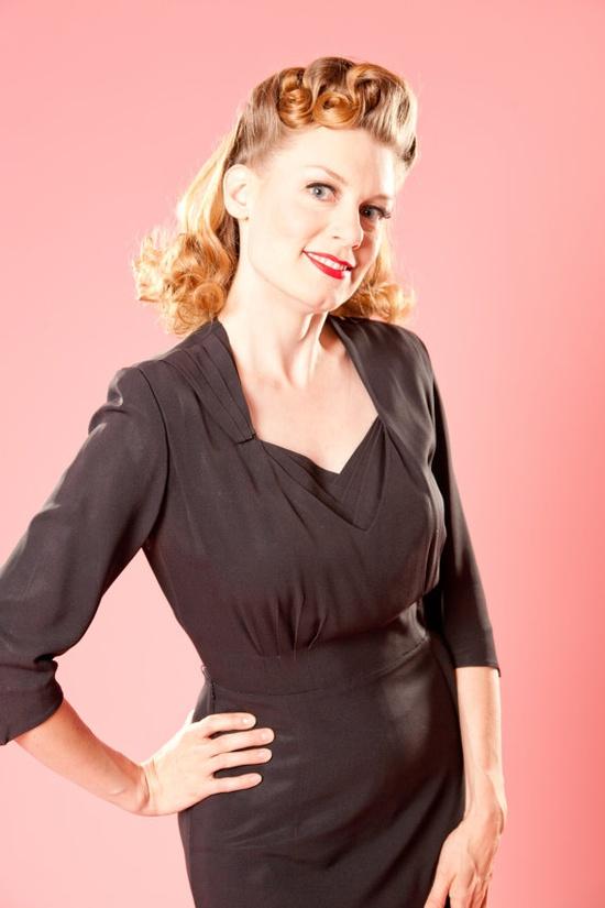 1940s Herbert Levy dress #vintage #lbd #holiday #dress #rayon #1940s $89