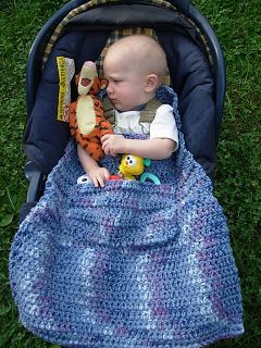 Nancy's Crochet: Super custom car seat blanket