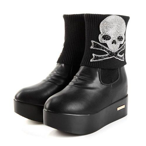 wholesale Platform boots kull individuality fashion girls shoes X56711