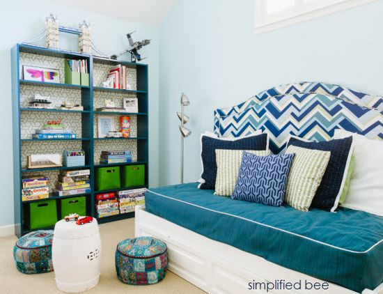 playroom and guest room design // cristin priest // simplified bee #playrooms