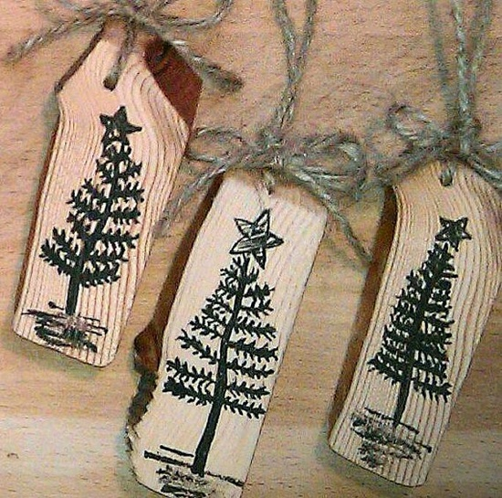 Wood Christmas Ornaments  Hand Painted Rustic by RusticCharmDesign, $17.00