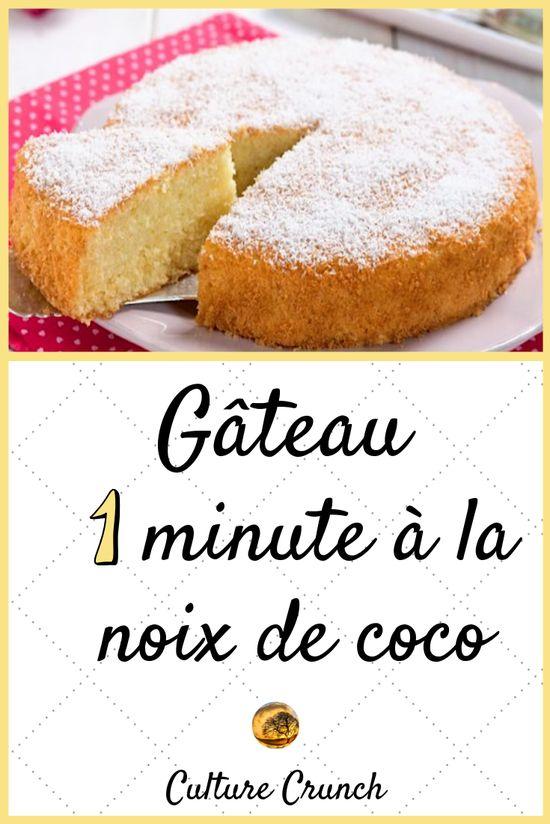Gâteau 1mn coco