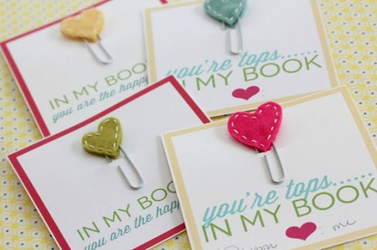 Make Adorable Stitched Heart Bookmarks