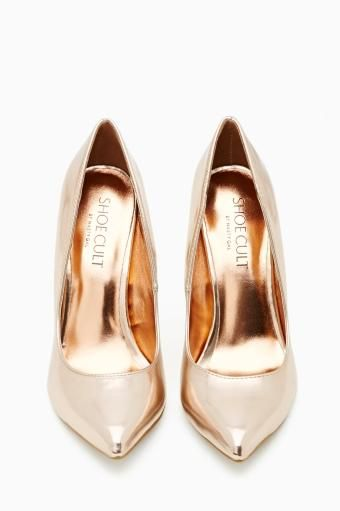 Shoe Cult Luxe Pump in Rose Gold