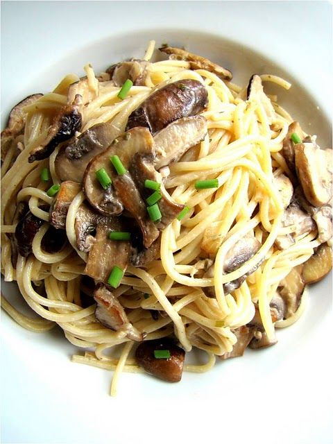 Mixed Mushroom Spaghetti