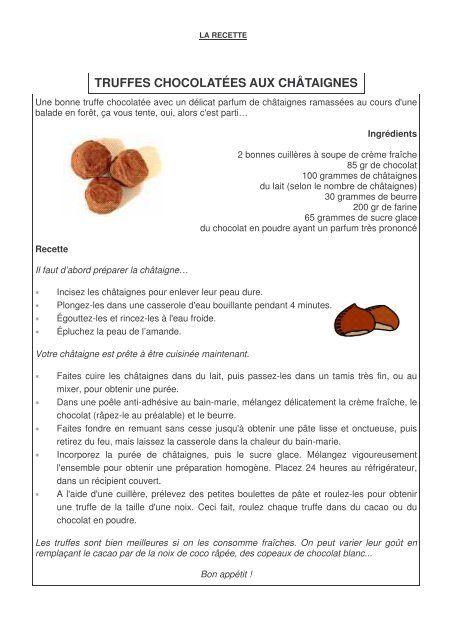 Fiche 46 la recette + questionnaire - Professeur Phifix