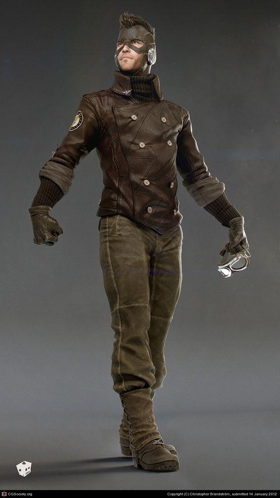 CGTalk - The Flash Noir, Christopher Brändström #3d char #3d character