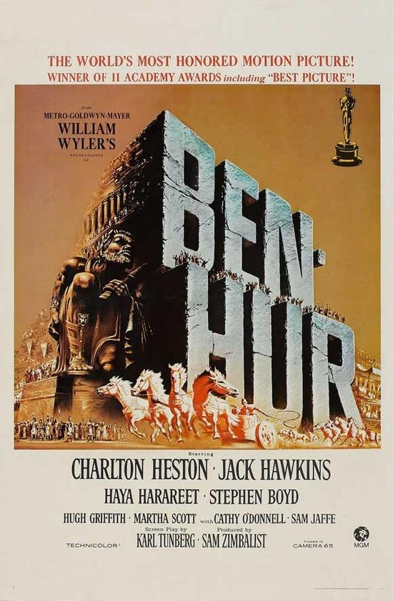 Charlton Heston - Ben Hur, 1959 my grandfather worked on this film.