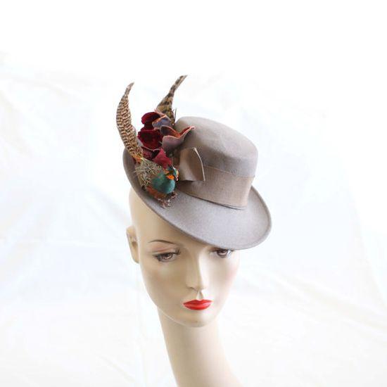 Vintage Marie Mercie Bird Tilt Hat.1940s