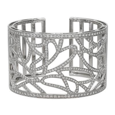exquisite 18K white bangle -  Simon G.