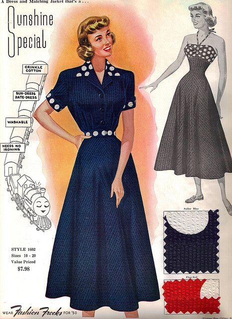 "Fashion Frocks ""Sunshine Special"" 1950"