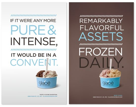 Glace ads by Nathaniel Cooper