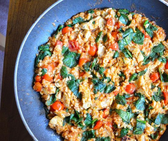Easy and Healthy Chicken and Rice Skillet Dinner